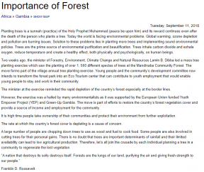 Importance of Forest - COVER IMAGE